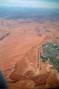 aerial pics: Page city and airport - PGA aus der Luft