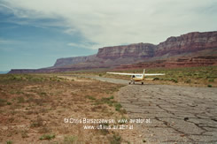 aerial pics: Take off in Marble Canyon Airport, L41, Utah